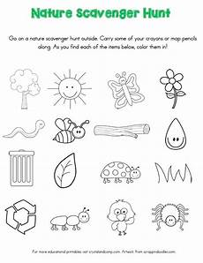 nature printable worksheets for preschool 15119 nature scavenger hunt