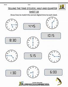 printable telling time worksheets 2nd grade 3624 4th grade math worksheets clock half and quarter sheet 1b o clock half and quarter sheet 1b