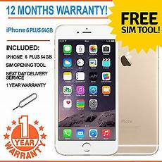 iphone 6 reconditionné ebay apple iphone 6 plus 64gb factory unlocked gold ebay