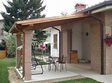 tettoia legno tettoia in legno e mattoni from the garden nel 2019