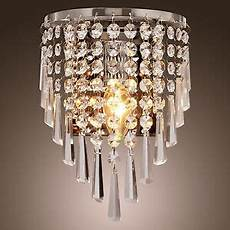 crystal wall sconce light fixture modern crystal wall sconce pendant fixture l bathroom light vanity lighting ebay