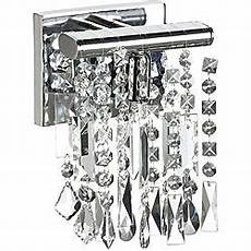 shop 1 light chrome crystal wall sconce 6 quot free shipping today overstock 6362138
