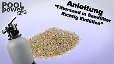 sandfilteranlage wieviel sand