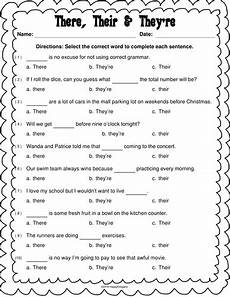worksheets using their there they re there their and they re worksheet by happyedugator