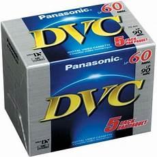 panasonic mini dv cassette panasonic dvm60 mini dv 5 pack pro mini