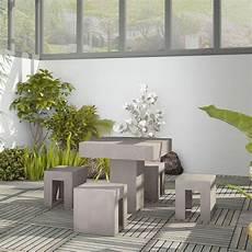 salon de jardin en beton petit salon jardin b 233 ton 80 x 80 cm 4 si 232 ges