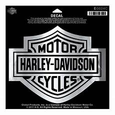 harley davidson bar shield chrome large decal large