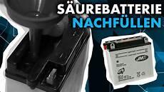 anleitung motorrad roller batterie nachf 252 llen