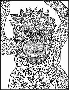 printable coloring pages for adults animals 17282 animal coloring page monkey printable coloring page