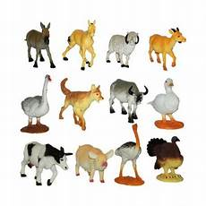 Figurines Animaux De La Ferme Lot De 12 Jouets A La