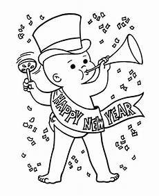baby new year in on new years coloring page