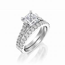 2 13 ct princess man made diamond engagement ring 14k white gold d vvs1 ebay