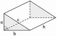 volumen des dreiseitigen rechtwinkligen prismas prismen