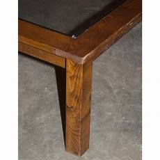 Large Square Glass Top Coffee Table