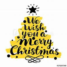 we wish you a merry christmas text lettering writing calligraphy text for greeting cards