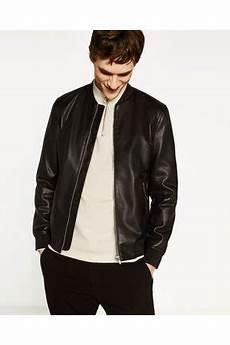 Acheter Vestes En Cuir Homme Zara En Ligne Fashiola Fr