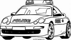 Ausmalbilder Polizeiauto Porche Free Colouring Pages