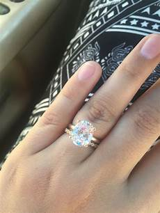 3 carat oval diamond ring with vintage wedding band oval solitaire engagement ring rings