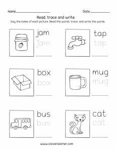 3 letter word worksheets for kindergarten 23550 three letter words tracing and writing printable sheets for preschool and kindergarten