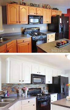 Kitchen Unit Makeover Paint by Kitchen Cabinet Makeover Reveal Home Stuff Kitchen