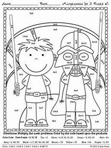 multiplication worksheets color in 4448 multiplication may the facts be with you 2 math puzzle printables common standards
