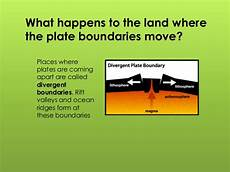 what does a divergent boundary form plate boundaries ppt