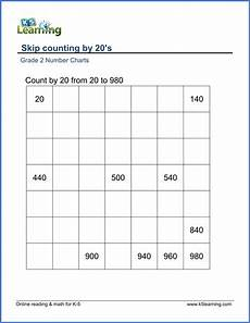 skip counting to 20 worksheets 12005 grade 2 skip counting worksheets count by 20s k5 learning