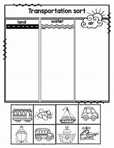 transportation worksheets for pre k 15224 things that go transportation sort by preschoolers and