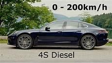 2017 Porsche Panamera 4s Diesel 0 200km H