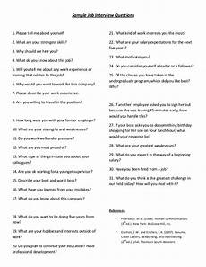 sle job interview questions