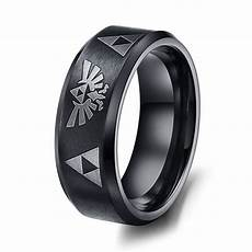 sale legend of ring full black men s titanium steel wedding ring for matte finish