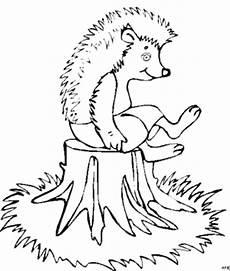 Igel Malvorlagen Gratis Pdf Igel Auf Baumstumpf Ausmalbild Malvorlage Tiere
