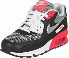 nike air max 90 youth gs shoes white silver