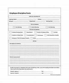employee discipline form template free employee discipline form 6 free word pdf documents download free premium templates