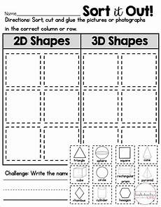 sorting by shape worksheets for kindergarten 7887 2d or 3d shape sort shape sort sorting 2d 3d shapes