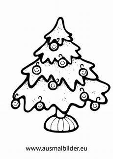 ausmalbilder weihnachtsbaum mit smiley kugeln
