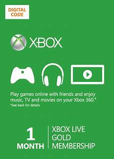 1 month xbox 360 one live membership gold card code