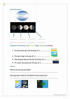 the earth moon and sun worksheets 14414 the sun the earth and the moon worksheet free esl printable worksheets made by teachers