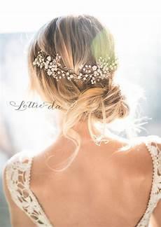 Blumen Im Haar Hochzeit - boho style wedding hair vine with flower details zinnia