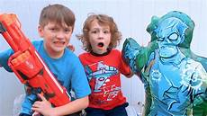 the nerf zombie strike inflatable target beahero kids youtube