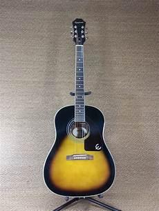 guitar for sale epiphone aj 200s vintage sunburst acoustic guitar sale reverb