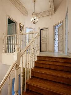 Shabby Chic Style Curved Staircase Design Ideas