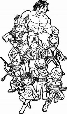 avengers team coloring page wecoloringpage com