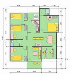 Denah Rumah 3 Kamar Ukuran 7x12 Dan Bentuk Rumah