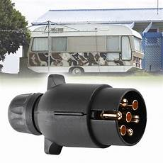 7 trailer caravan rv light plug n type 7 pole wiring connector adapter new ebay