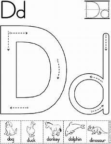 preschool writing worksheets letter d 24188 alphabet letter d worksheet preschool printable activity standard block font early