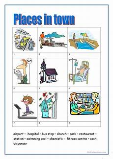 places worksheets 15930 places in town 1 worksheet free esl printable worksheets made by teachers