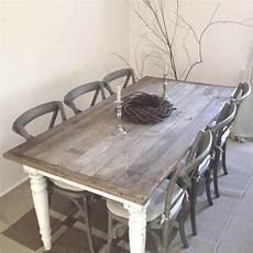 esstisch shabby look 6 seats brown shabby chic kitchen table set