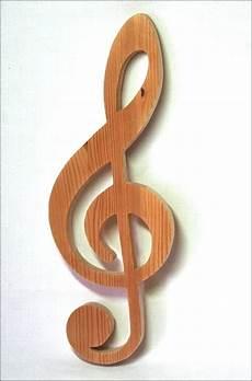 Notenschlüssel Aus Holz - deko objekte notenschl 252 ssel aus holz f 252 r