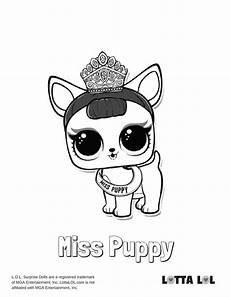miss puppy lol doll coloring page lotta lol